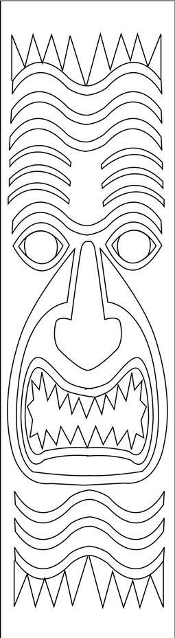 Tiki Tapa Bookmarks | Pinterest | Google, Luau and Moana