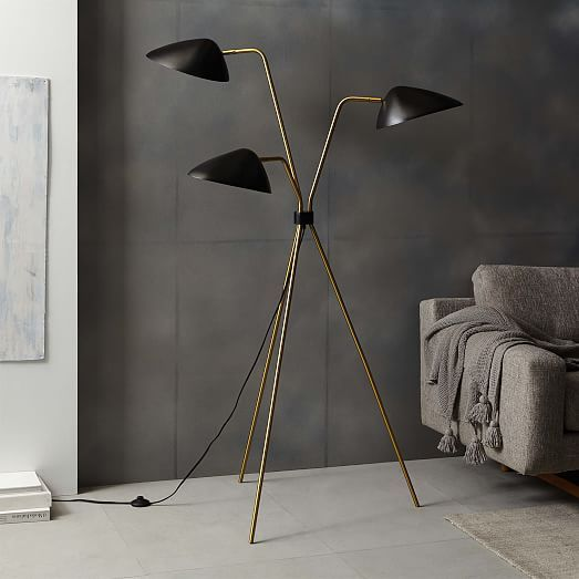 Curvilinear Mid Century Floor Lamp West Elm Mid Century Floor Lamps Modern Floor Lamps Beautiful Floor Lamps