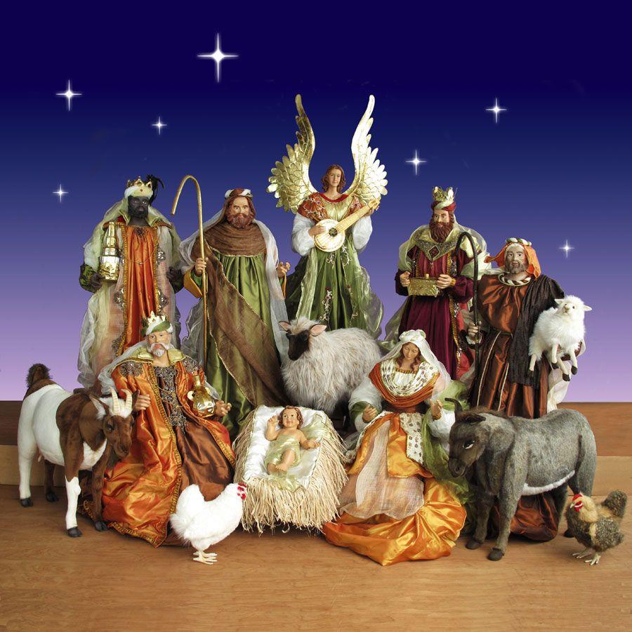 Resin Christmas Nativity Scene 12 Piece Set