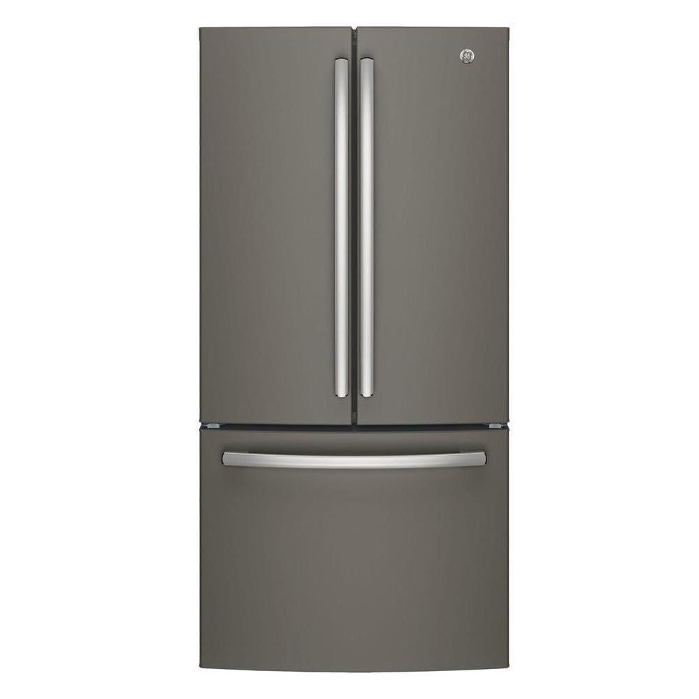 Ge 33 In W 24 8 Cu Ft French Door Refrigerator In Slate French Doors French Door Refrigerator Slate Appliances