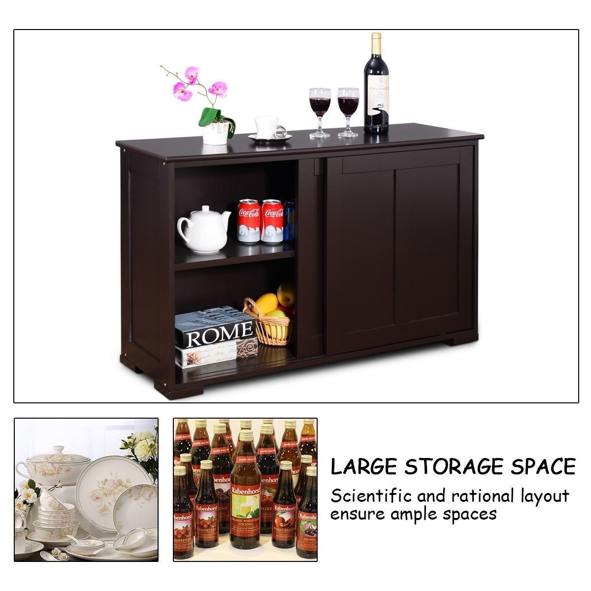 Kitchen Storage Cupboard Cabinet With Sliding Door Cabinet Cupboard Door Kitchen Slid In 2020 Kitchen Cupboard Storage Cabinet Door Storage Kitchen Cabinet Storage