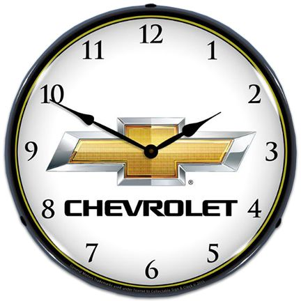 Chevrolet Bowtie Lighted Clock Wall Clock Light Chevrolet Bowtie Clock