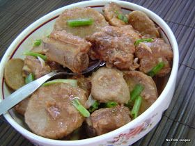 No-Frills Recipes ... cooking, baking & excerpts on travel: Braised pork ribs with yam