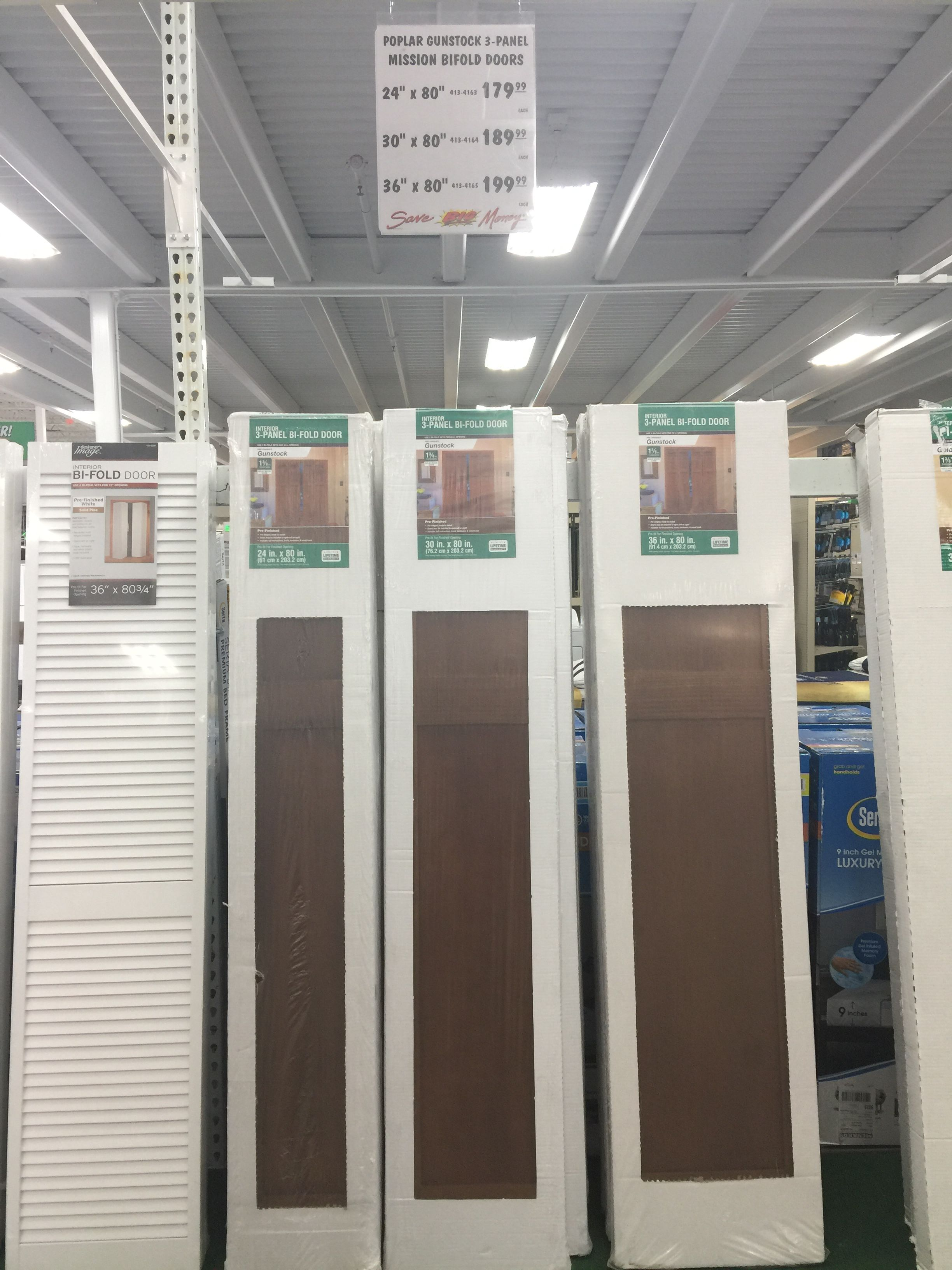 Closet Doors At Menards Bifold Doors Closet Doors Doors