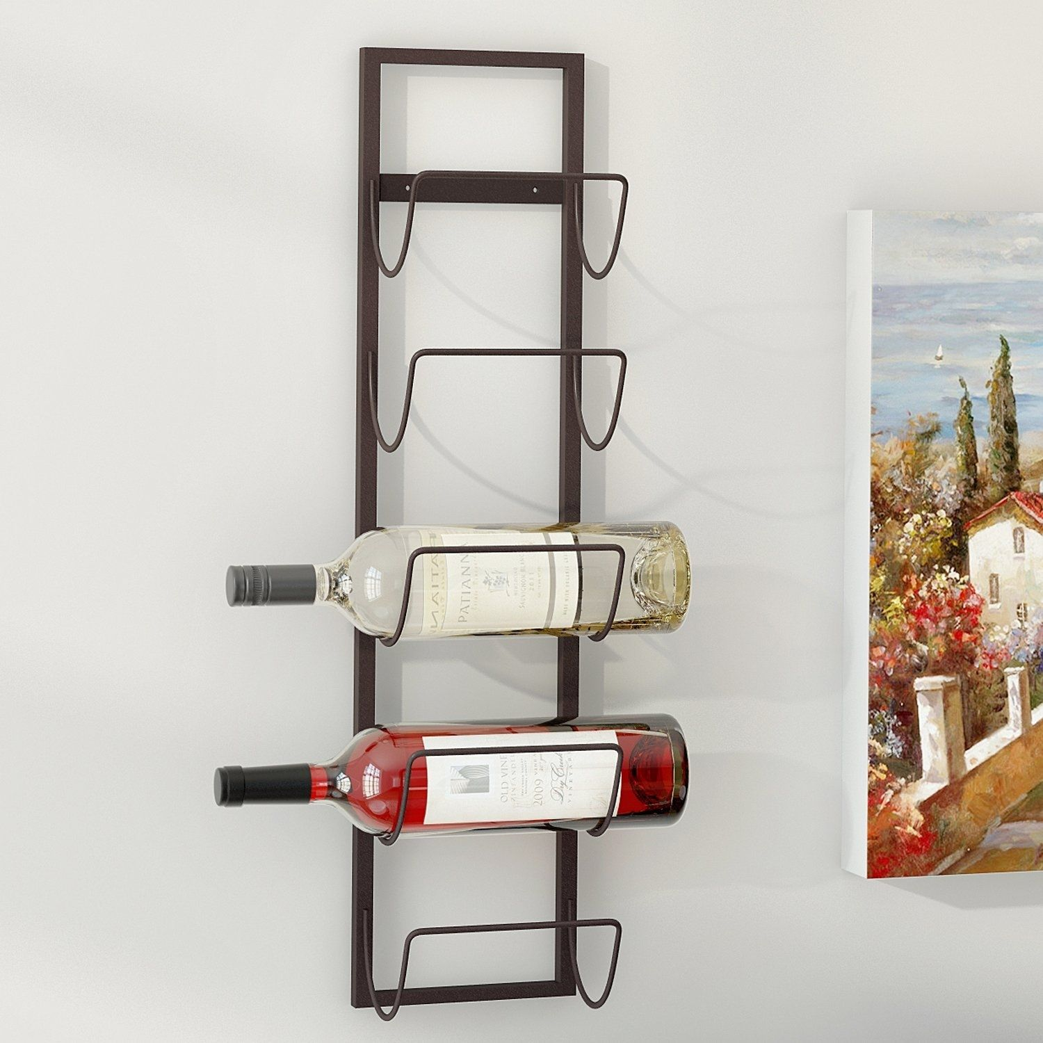 Image Of Wall Mount Wine Rack 12 Bottles Stainless Steel Wine Rack Bar With Wall Wine Rack Wall Wine Rack For Wine Rack Wall Wall Mounted Wine Rack Wine Rack