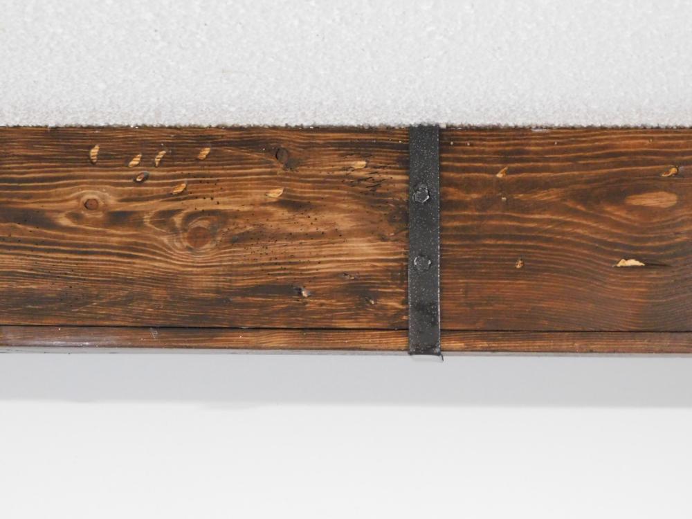 Wood Ceiling Beam Straps Leah And Joe Home Diy Projects Crafts Ceiling Beams Wood Beam Ceiling Diy Ceiling