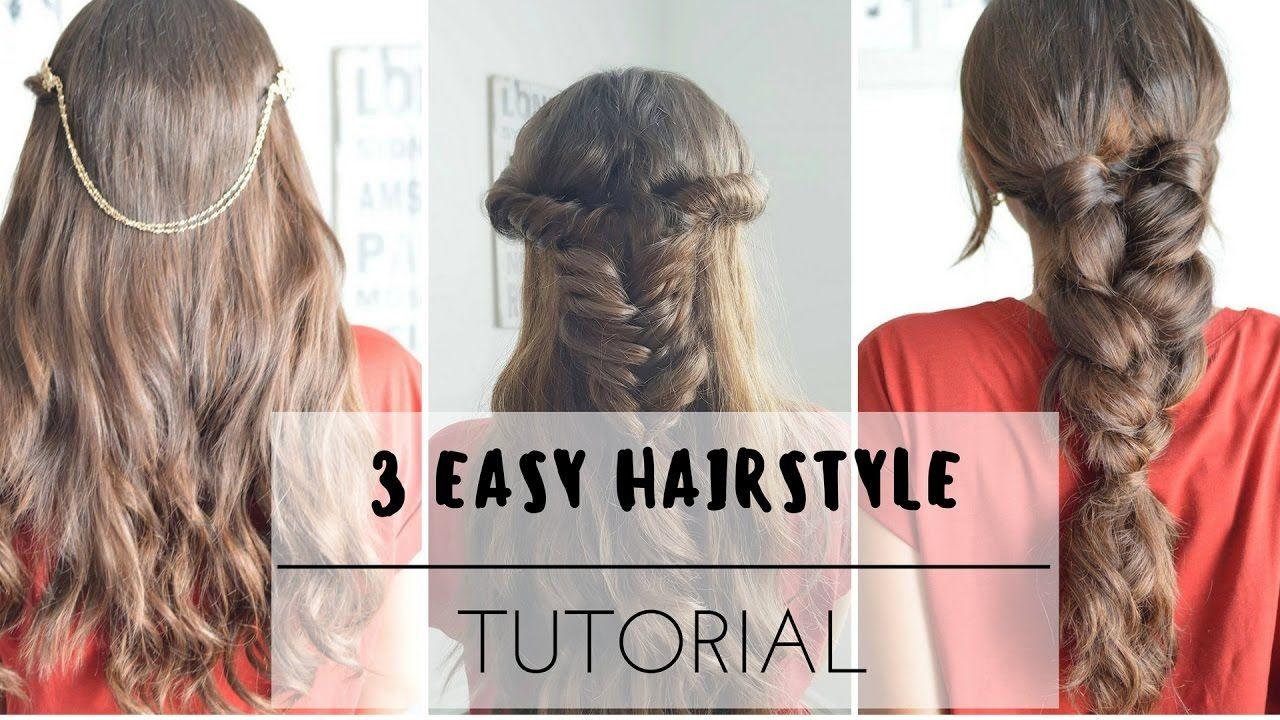 3 Easy Hairstyles    Tutorial   Hair tutorials easy, Hair styles, Youtube hair tutorials