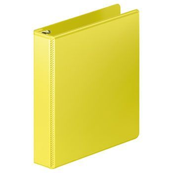 "Heavy-Duty D-Ring View Binder W/extra-Durable Hinge, 1 1/2"" Cap, Yellow"