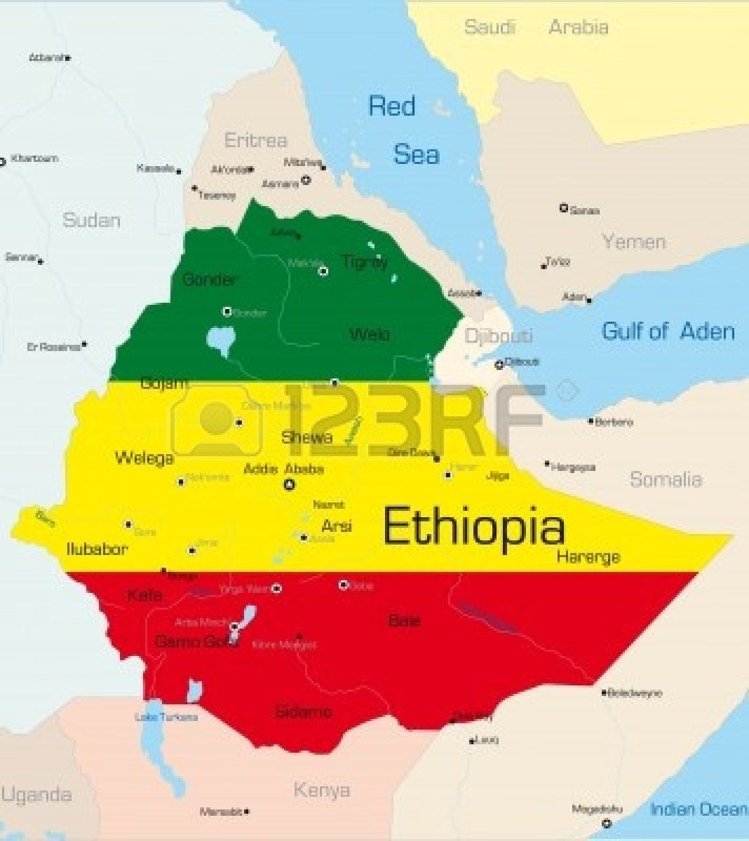 Stock Vector Ethiopia Country Ethiopia Facts For Kids