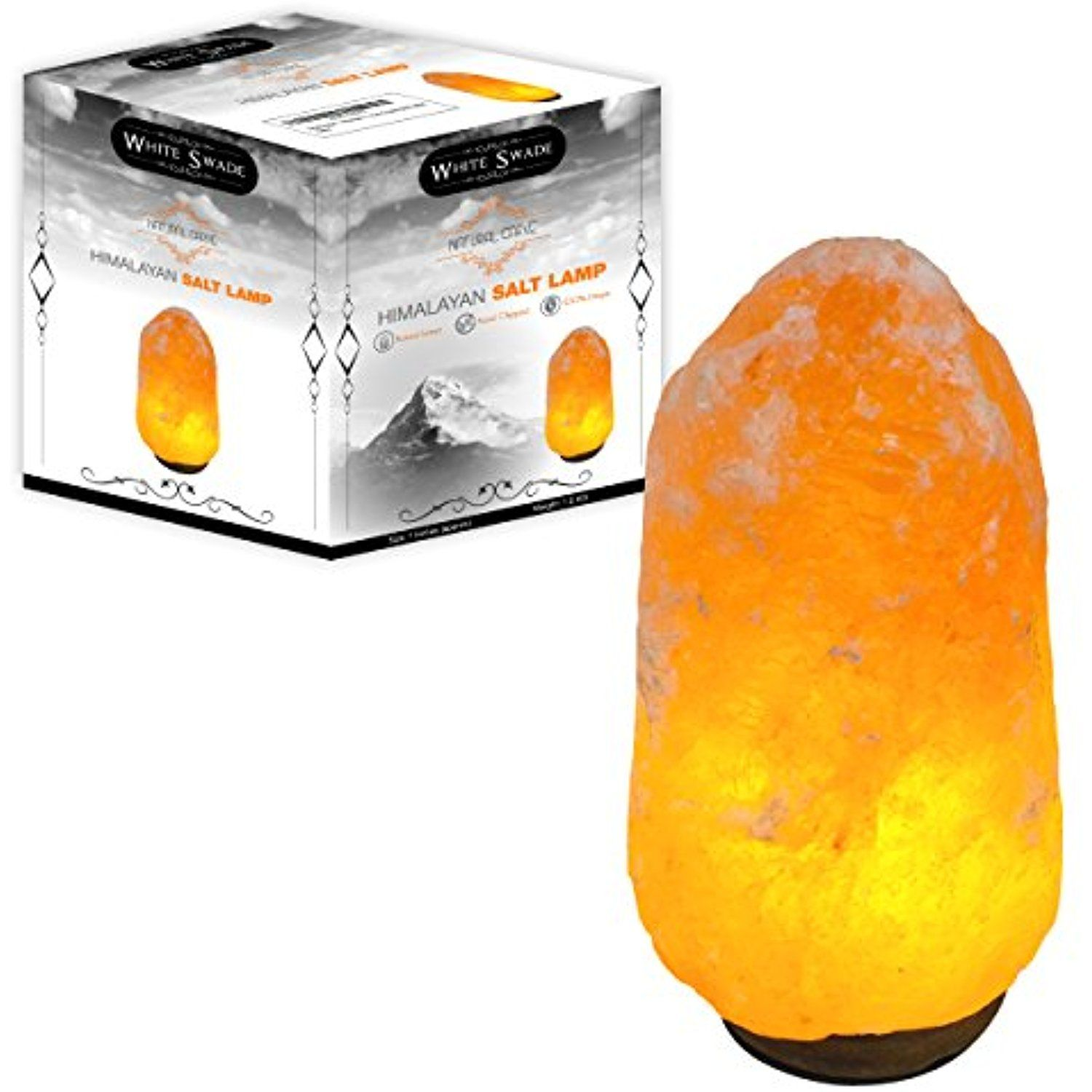 "Genuine Himalayan Salt Lamp Cool Whiteswade 7"" Himalayan Salt Lamp With Dimmer Switch Genuine Neem 2018"