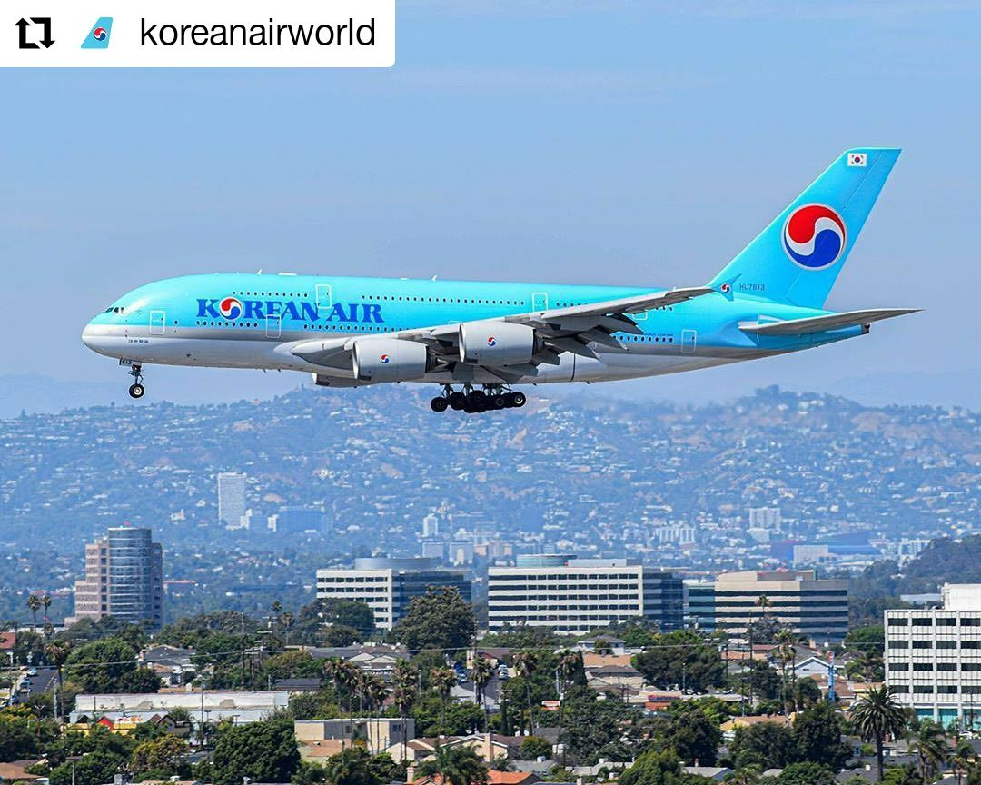 Korean Air Airbus A380 from Los Angeles to Seoul in 2020