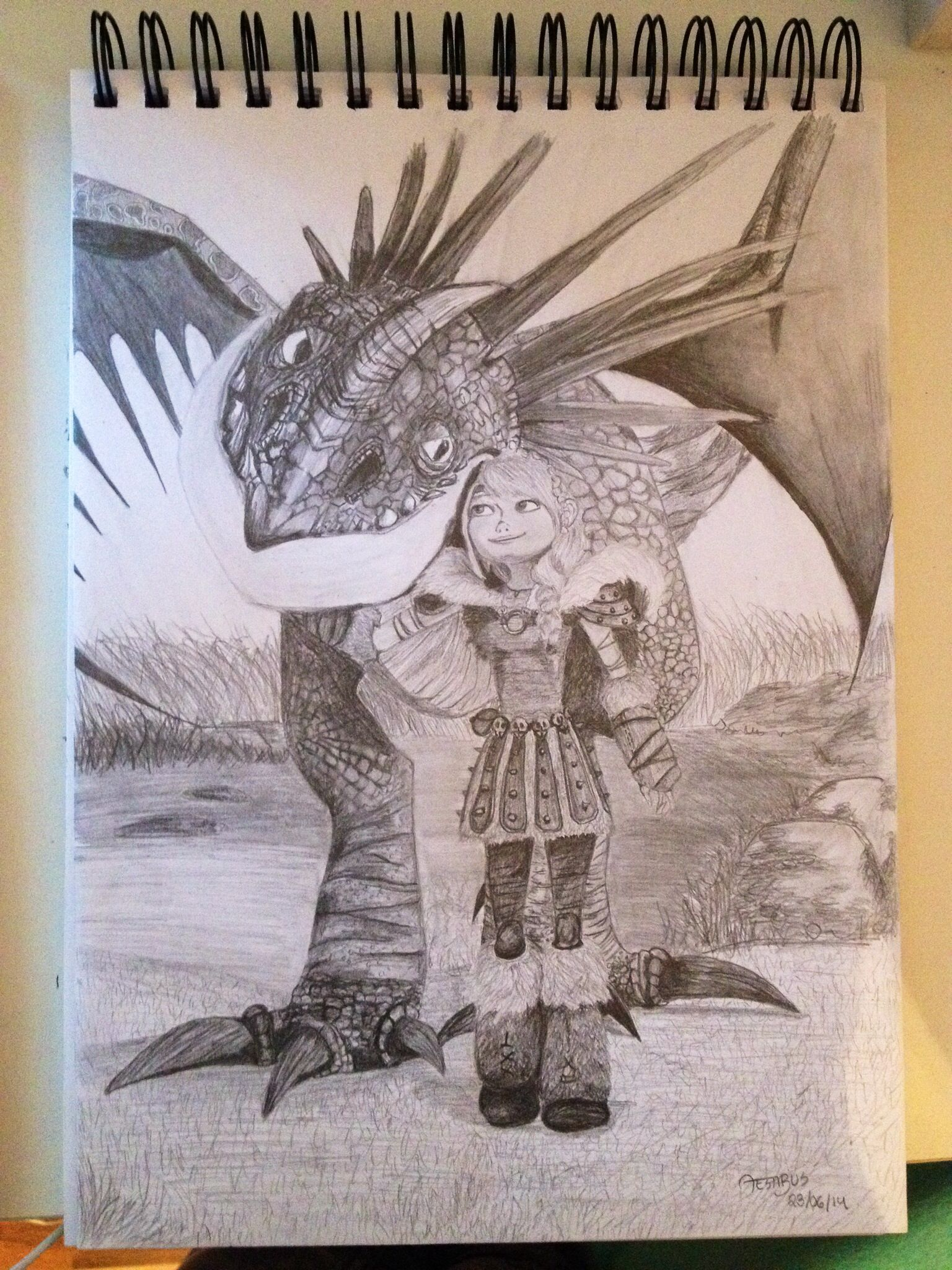 Drawing of Astrid and Stormfly by aestibus and I adore this!! Follow ...