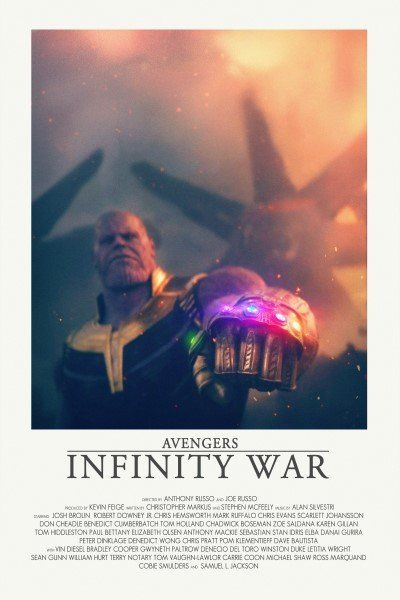 Image of Infinity War - Minimalist poster #filmposters