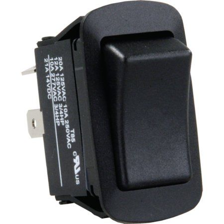 JR Products 12331 White Quad SPST On-Off Switch with Bezel