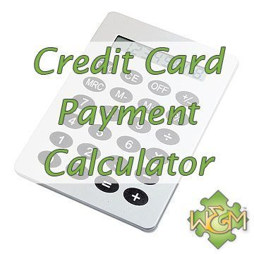 credit card payment calculator how many months to pay off the