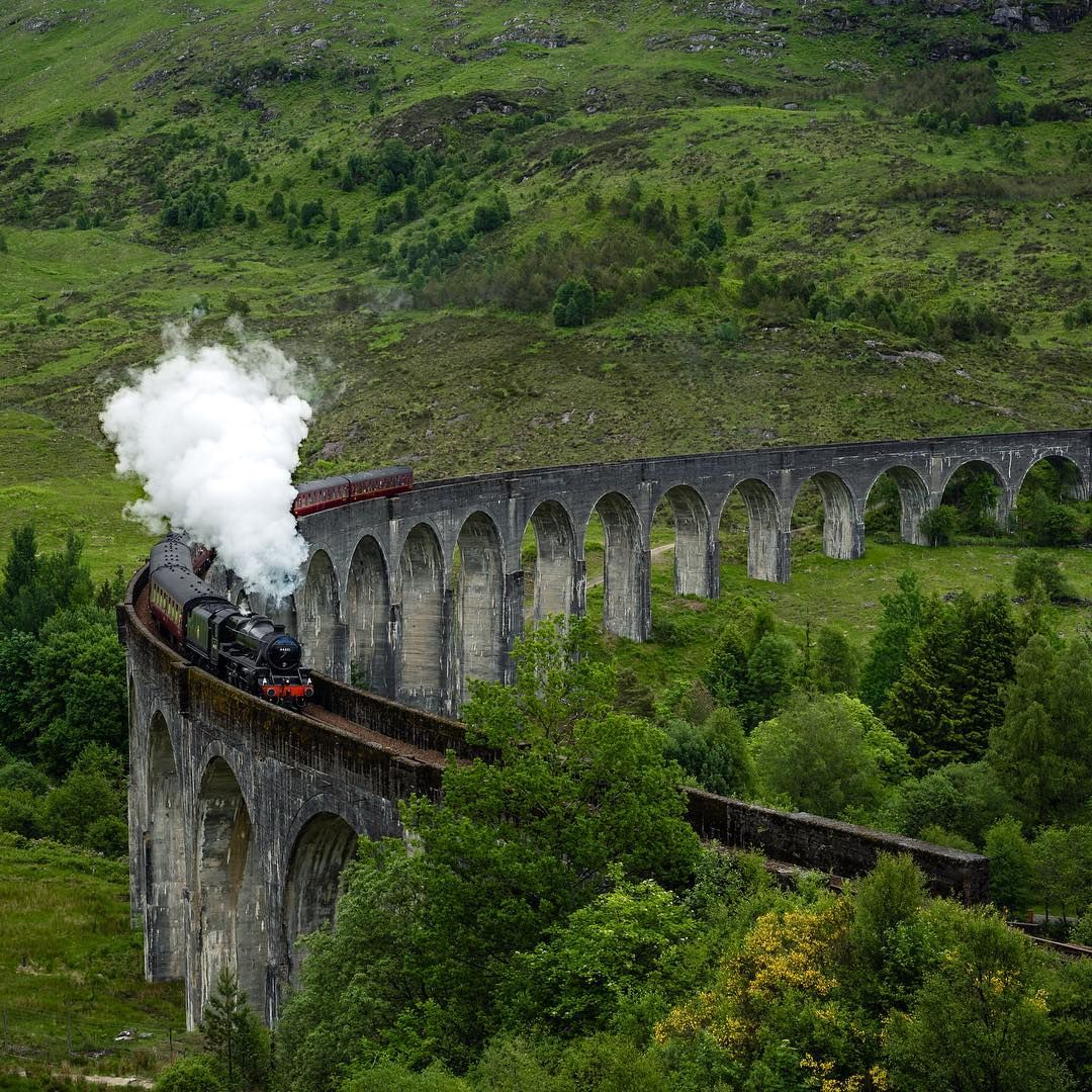Scotland Is Home To Harry Potter S Hogwarts Express Steam Train Take A Ride Through Vistas Straight From The Mo Hogwarts Scottish Countryside Hogwarts Express