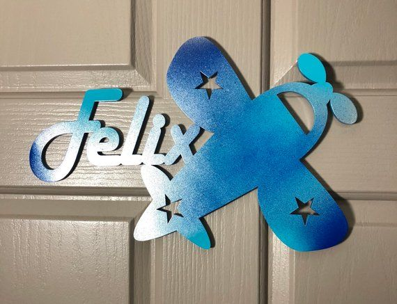 Airplane Bedroom Door Name Signs in 2018 Nursery decor Pinterest