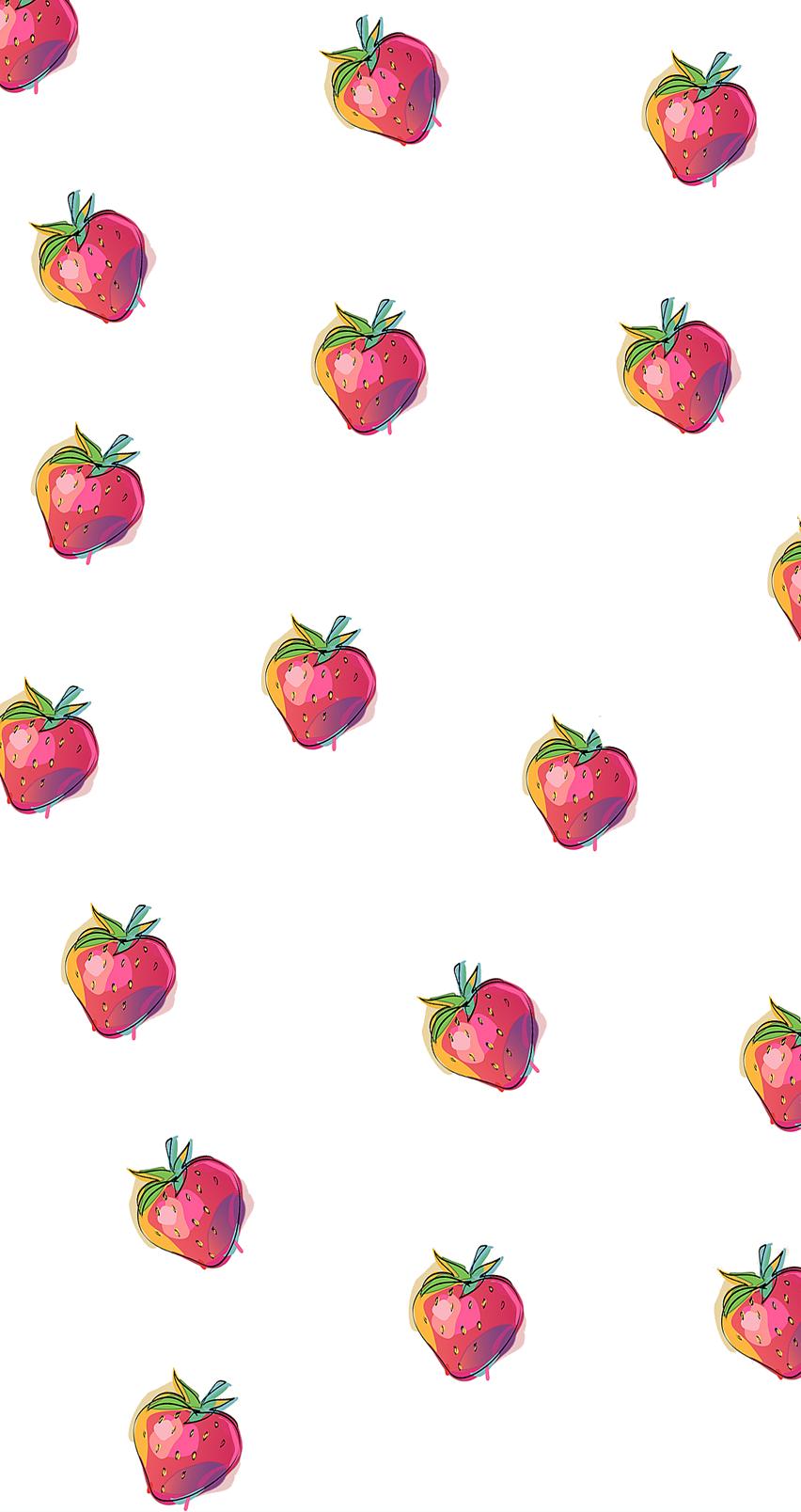 Free Strawberries iphone / desktop wallpapers Nature