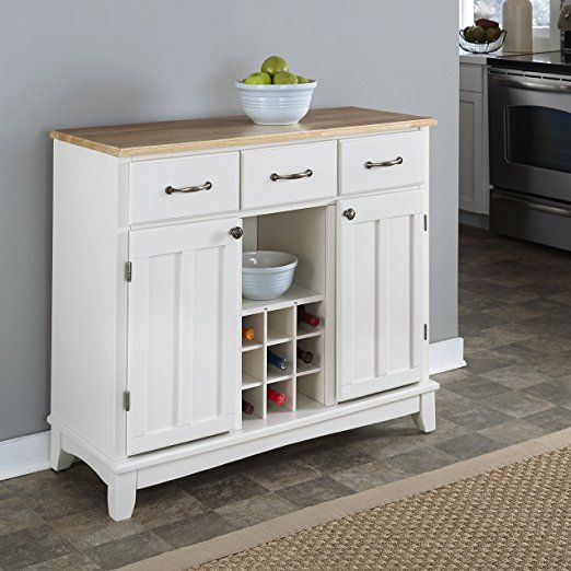 Smile Hutch Style Buffet White Natural Buffets Sideboards