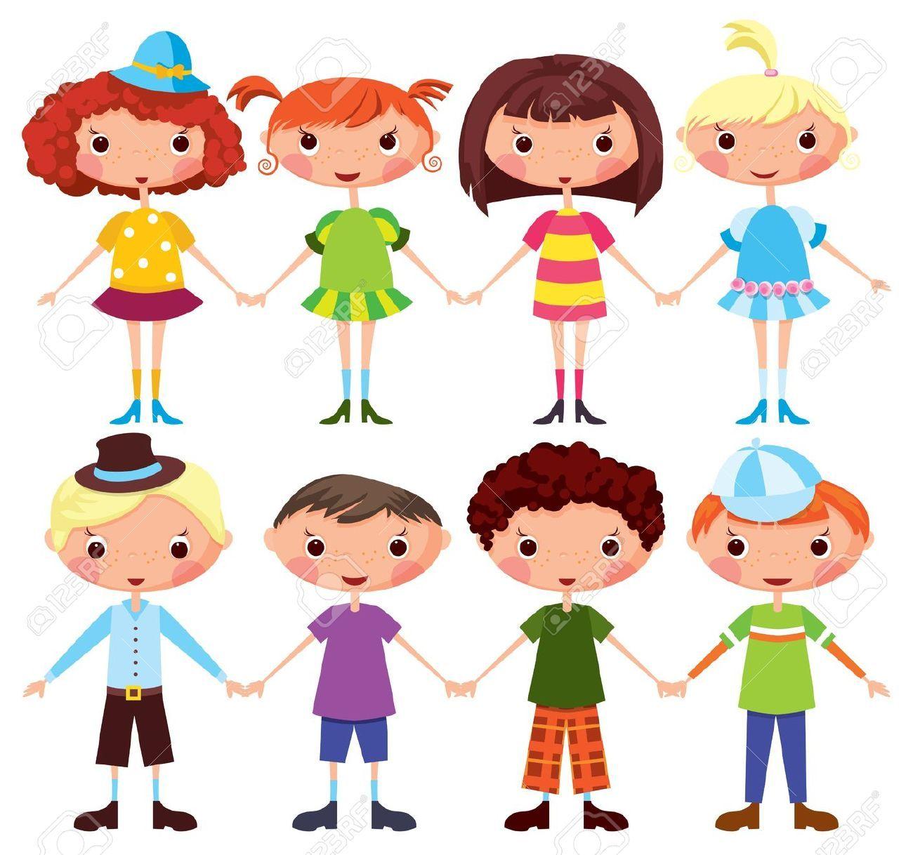 Las ni as y los ni os de dibujos animados de dibujos - Dibujos animados para bebes ...