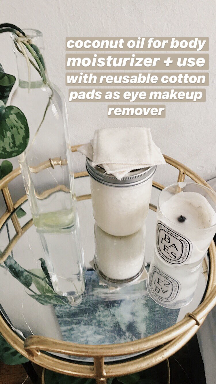 Coconut oil as moisturizer and makeup remover Coconut