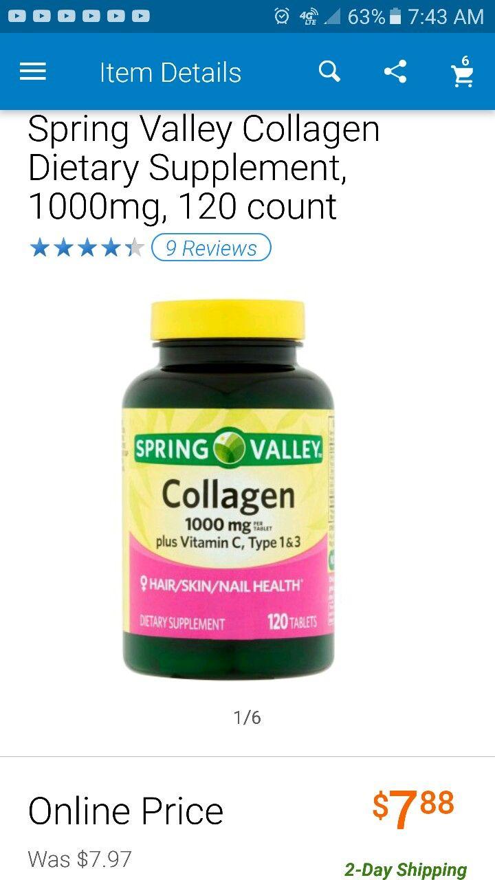 Spring valley collagen plus vitamin c tablets 1000 mg 120 ct - Vitaminas para plantas de interior ...