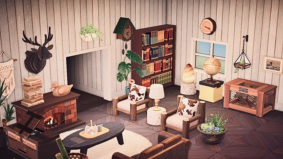 Animal Crossing Living Room In 2020 Animal Crossing Cafe Animal Crossing Amiibo Cards Animal Crossing