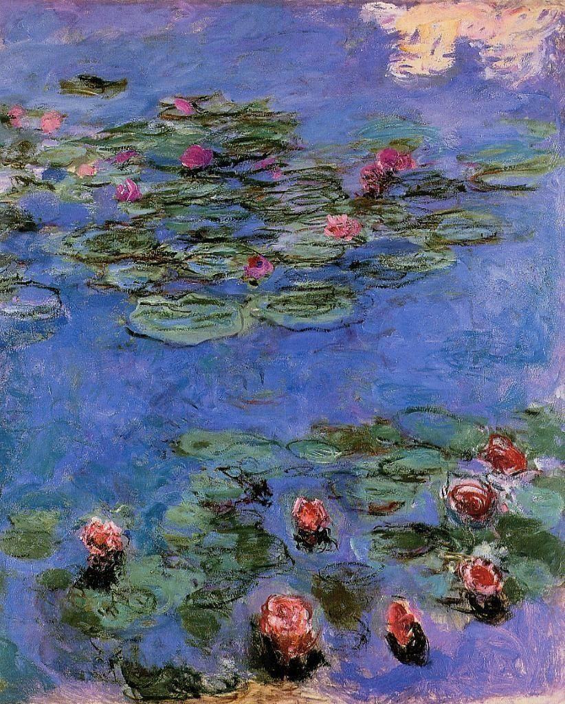 claude monet red water lilies 1914 1917 cosas qu. Black Bedroom Furniture Sets. Home Design Ideas