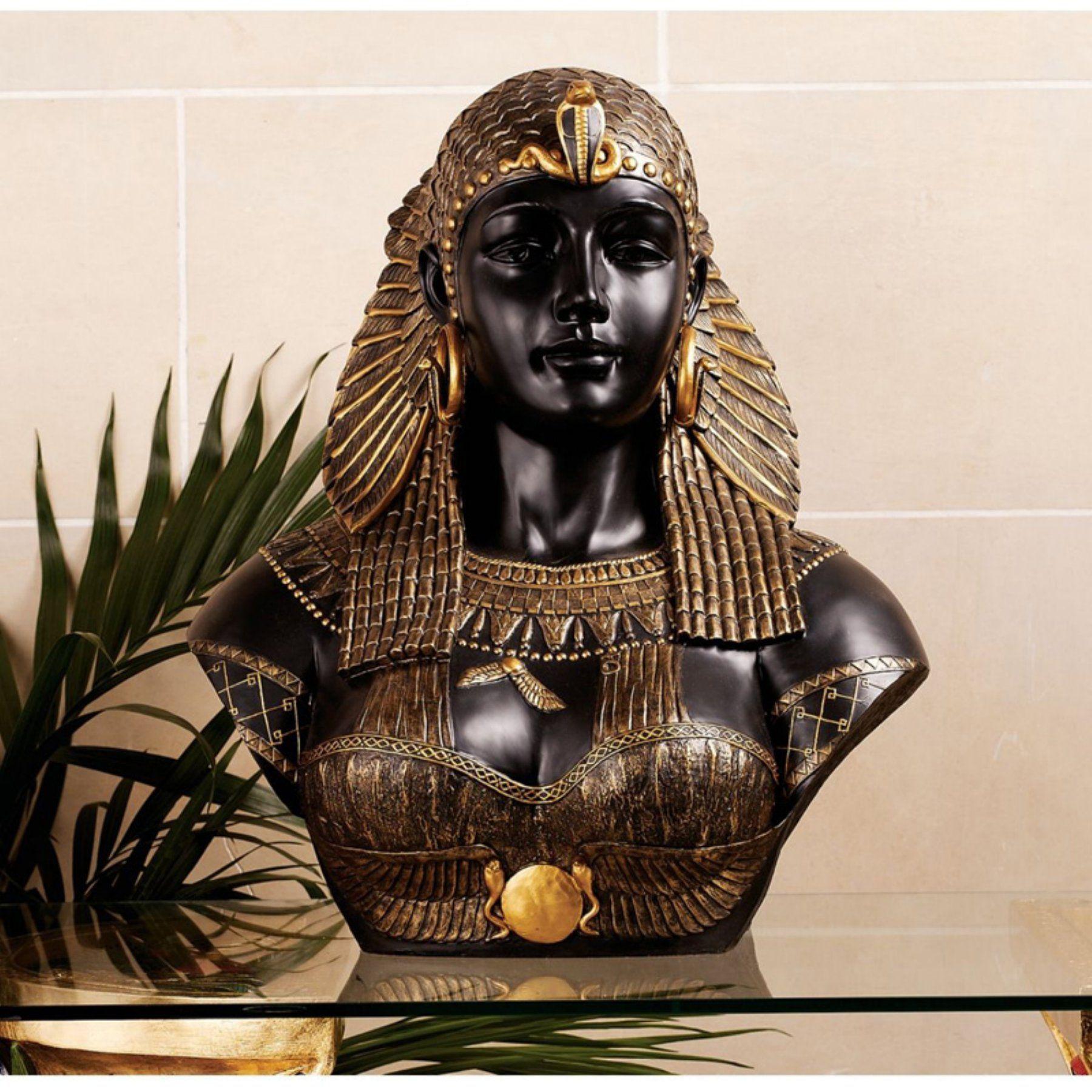 Design Toscano 21 in. Queen Cleopatra Neoclassical Sculptural Bust - WU71550