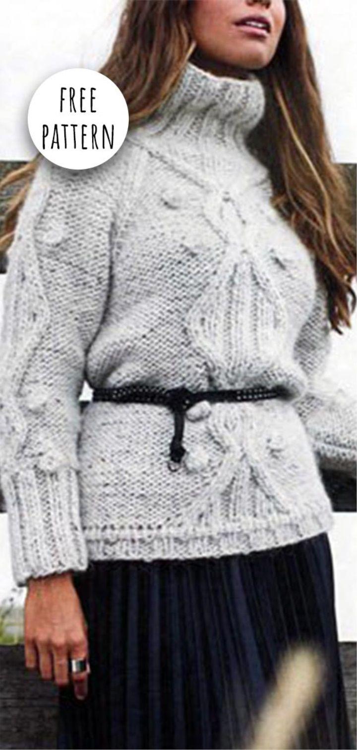 Knitting Pullover Free Pattern | Crochet | Pinterest | Free pattern ...