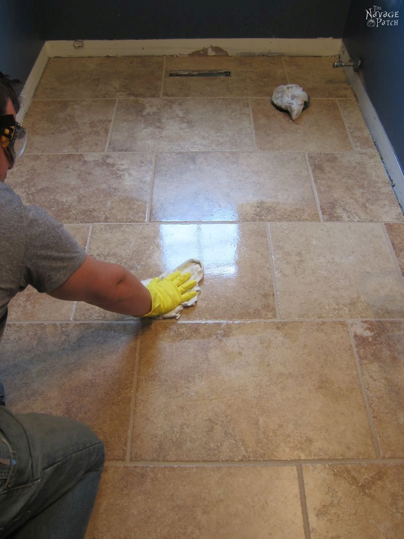 Guest bathroom renovation how to lay tile diy board pinterest