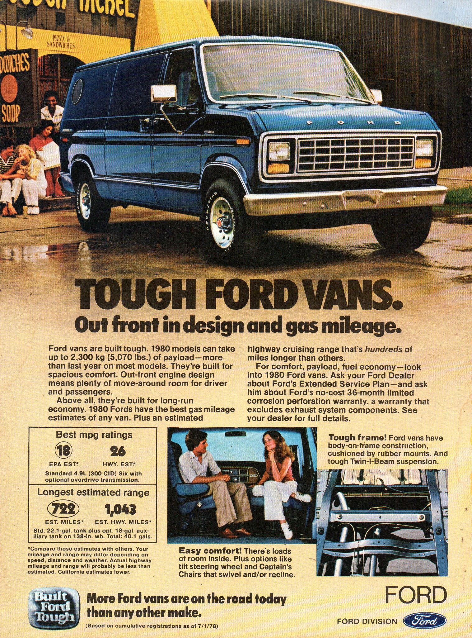 1980 Ford Van Usa Original Magazine Advertisement Vans Usa Ford