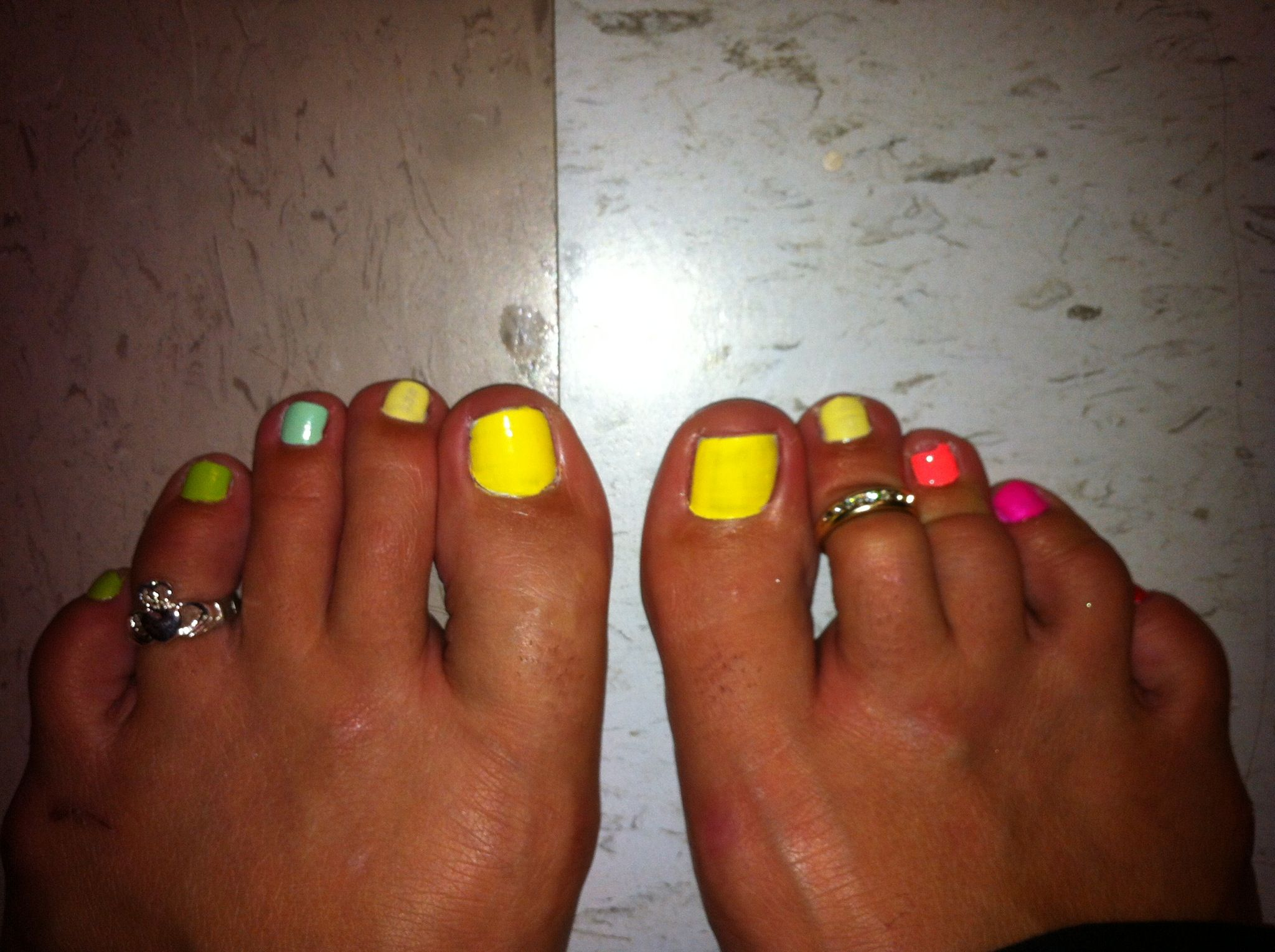 Multi colored nails (With images) | Nail art designs, Nail ...