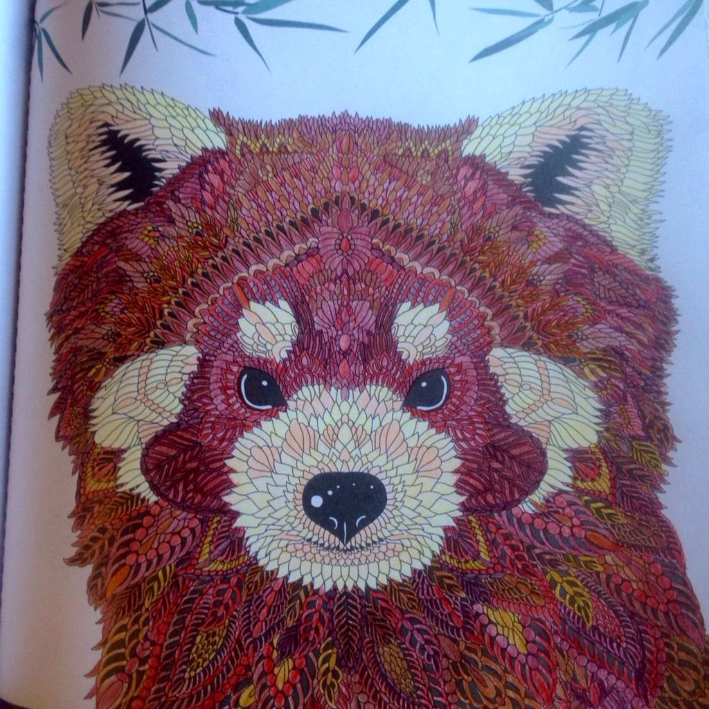 Book about color red - The Menegerie Animal Portraits To Color Red Panda