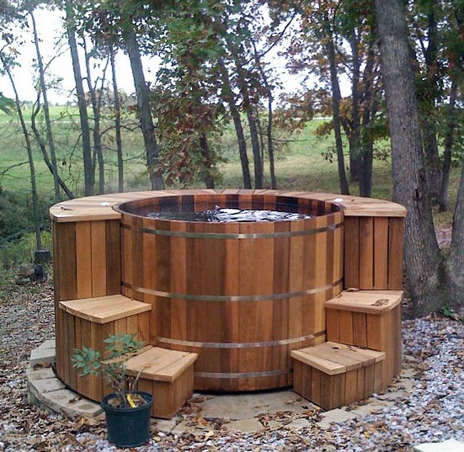 hot tub surrounds and steps custom leisure products miscellaneous pinterest rustikal. Black Bedroom Furniture Sets. Home Design Ideas