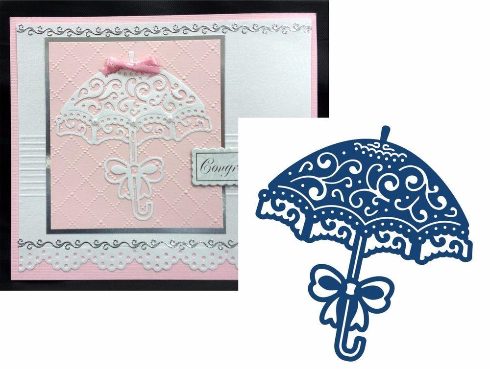 Tattered Lace Dies CURVED PARASOL Umbrella Metal Cutting Die D128