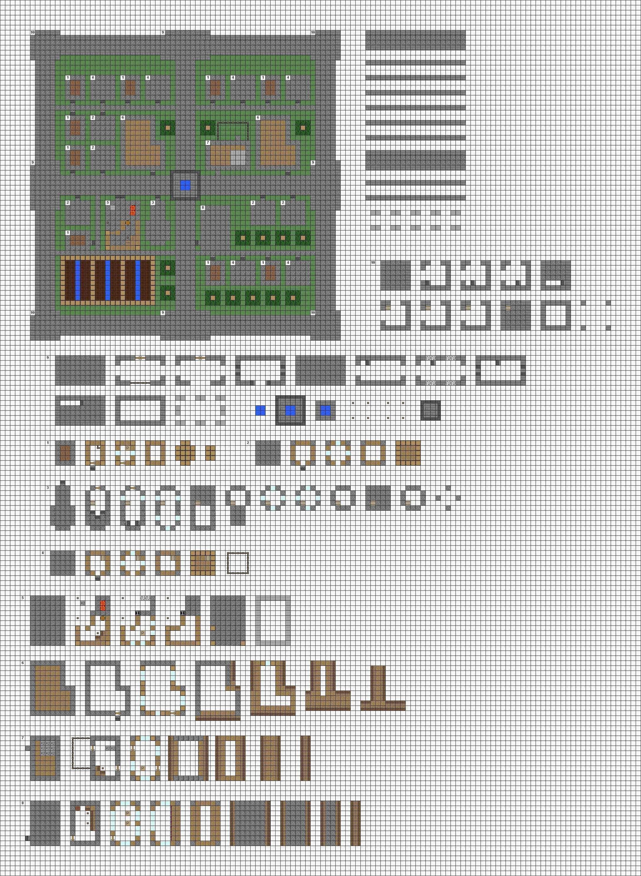 . Minecraft tower Blueprints Layer by Layer Beautiful Minecraft