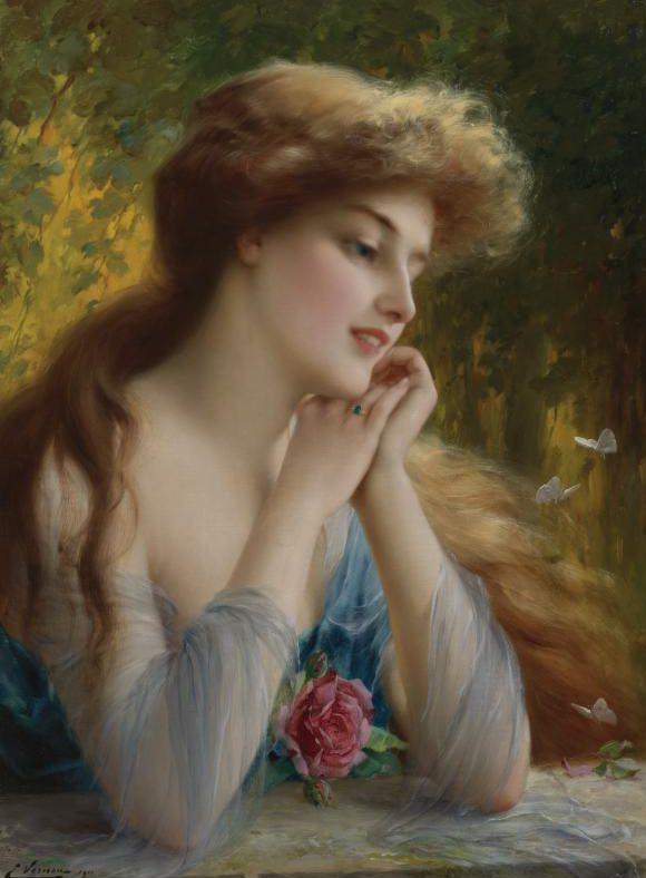 Émile Vernon (1872 - 1919) - Butterflies of Love, 1911