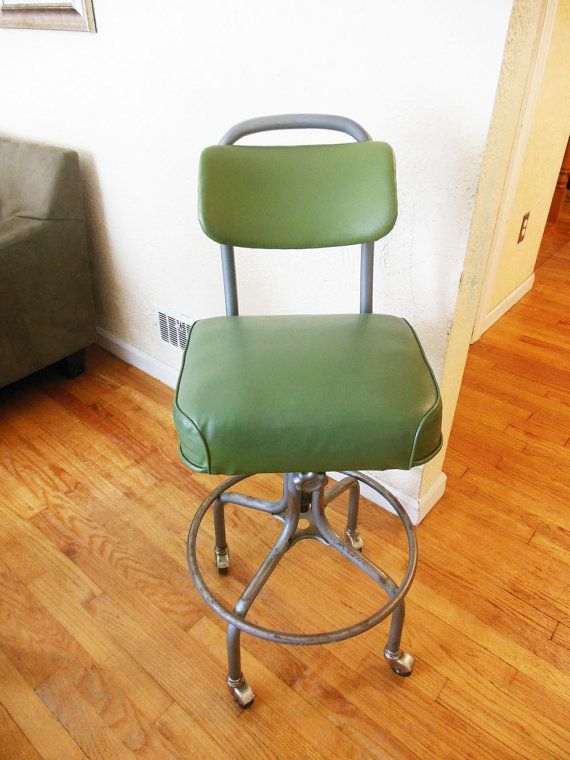 Mid Century Industrial Steelcase Drafting Chair Steelcase Chair