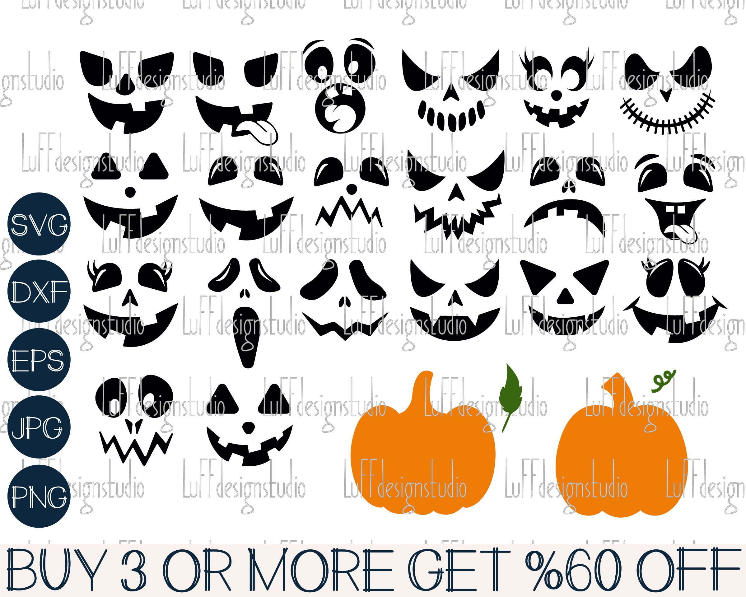 Pumpkin Face Svg Jack O Lantern Svg Pumpkin Faces Svg Halloween Svg Png Svg Files For Cricut Silhouette Sublimation Designs Downloads Pumpkin Faces Jack O Lantern Svg Files For Cricut