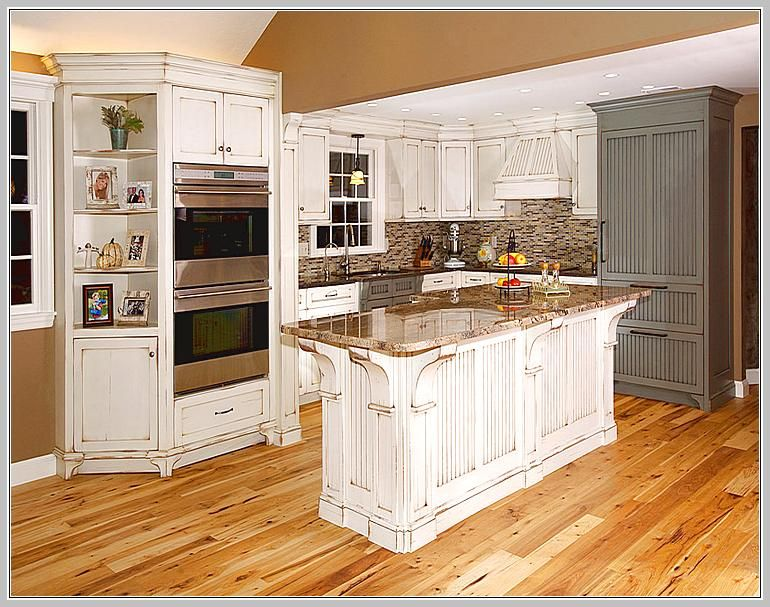 Black Distressed Kitchen Island Home Design Ideas Cottage Corbels Antique  Cream Rub Wood