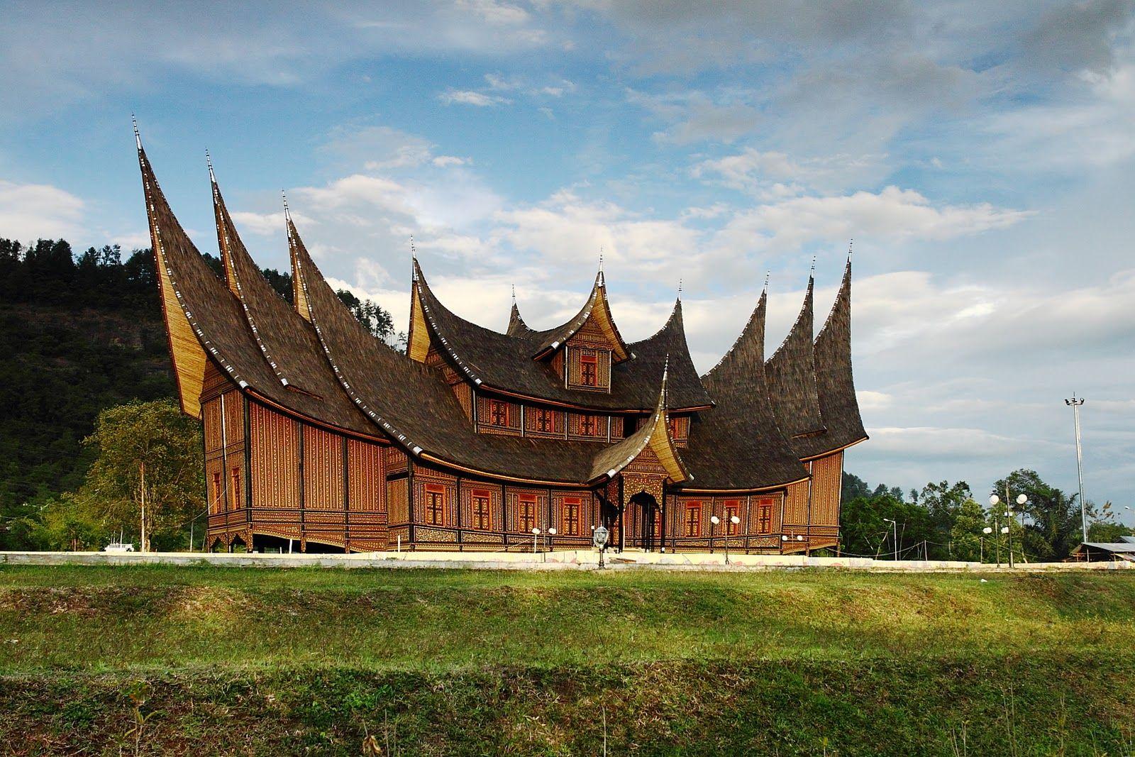 gambar rumah gadang gorgeous vector and wallpaper gambar