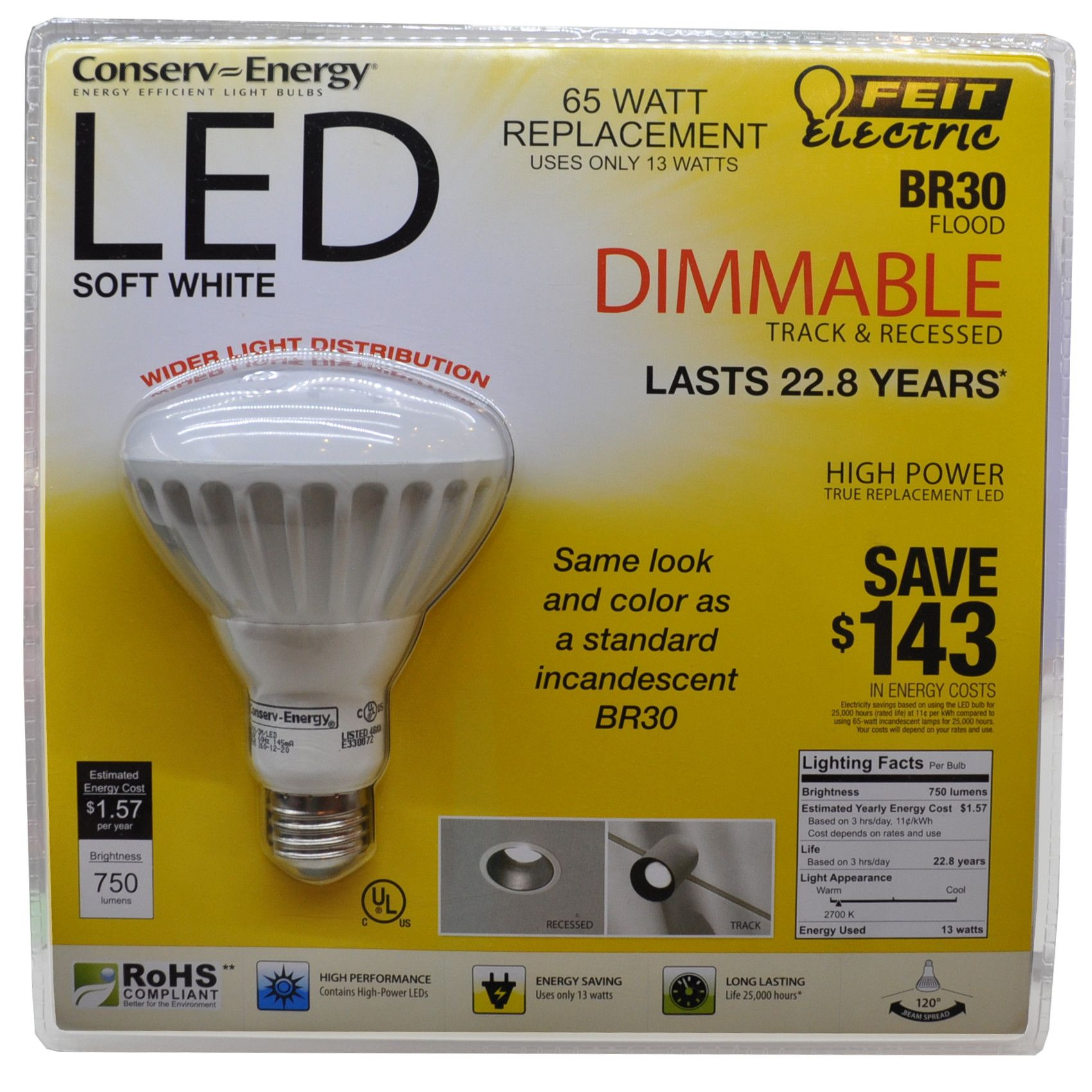 Costco Led Light Strip Unique Inspired Led Recommends And Reviews Feit Electric Led Br30 Bulbs For Design Ideas