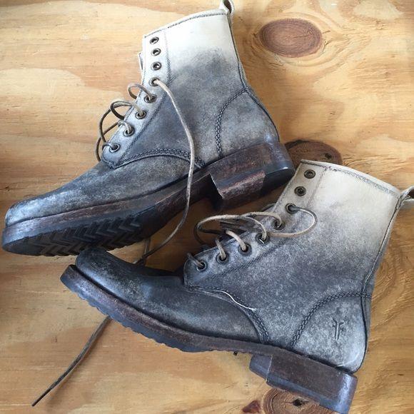 Frye Veronica Ombré Combat Boots Stone Stone Wash Veronica Combat ...