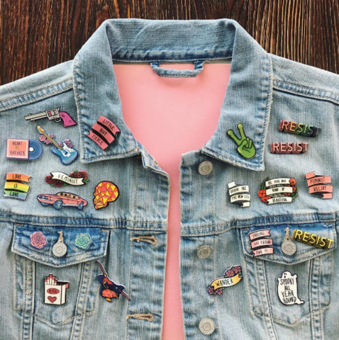 Pin Collection Display Ideas in 2019 | Pins on denim jacket