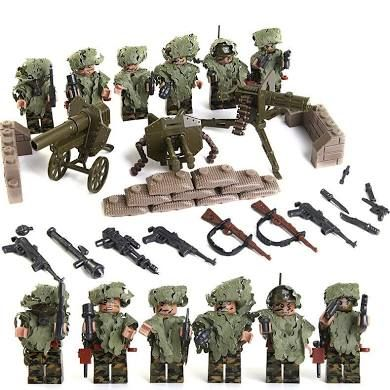 Toys & Hobbies Collection Here Ww2 Series Military Swat Team Guns Weapon Pack Building Blocks City Police Soldiers Figure Legoinglys Military Army Builder Toys To Adopt Advanced Technology Model Building