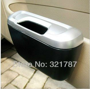 Free Shipping Car Auto Mini Trash Rubbish Can Car Garbage Dust Box