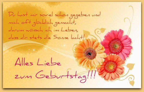 Alles Gute Zum Geburtstag Birthday Wishes Pinterest Birthday