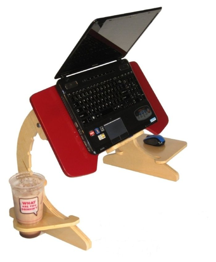 ergonomic laptop stand-slash-tray is perfect for those who love
