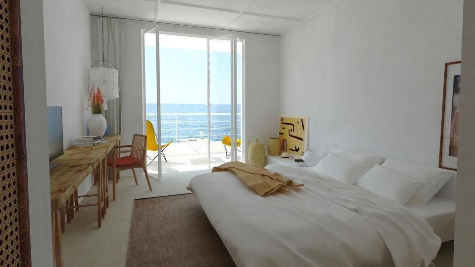 Chambre vue mer les roches rouges avec images festen - Hotel narbonne plage avec piscine ...